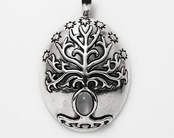 The  Sterling Silver White Tree Pendant
