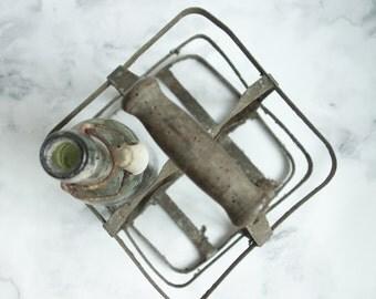 French vintage bottle holder - French bottle holder - French vintage decor