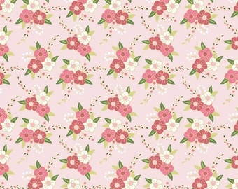 Wonderland Pink Floral cotton fabric, Riley Blake