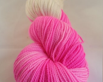 Pink Rocker Sock High Twist Yarn