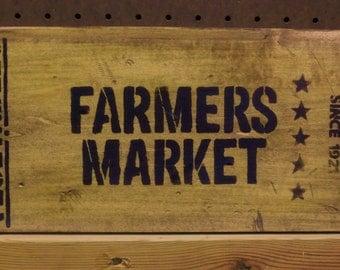 Farmers Market Rustic Sign
