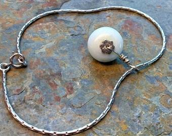 Sterling silver larimar bracelet. larimar jewelry, dominican larimar, boho bracelets, boho chic, bohemian jewelry, genuine blue larimar