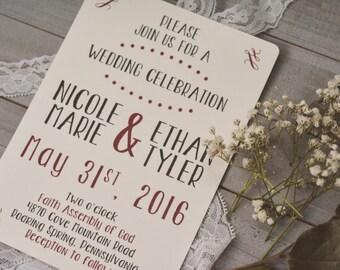 RUSTIC|Wedding Invitation Set #5