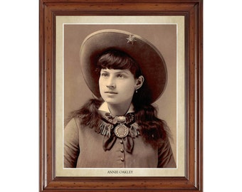 Annie Oakley portrait; 16x20 print on premium heavy photo paper