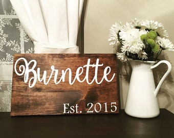 Custom Wooden Family Name Signs