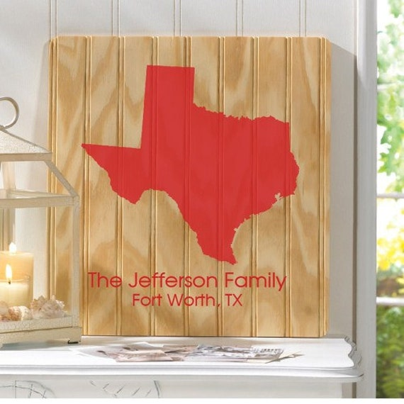 Personalized Signs For Home Decorating: Personalized Home Decor State 14 X 16 Wood Sign