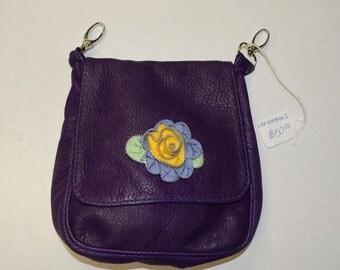 Purple Handbag, Purple Leather Purse, Purple Leather Bag, Purple Leather, Purple Leather Handbags, Leather Purple Purse, Purple Hip Bag