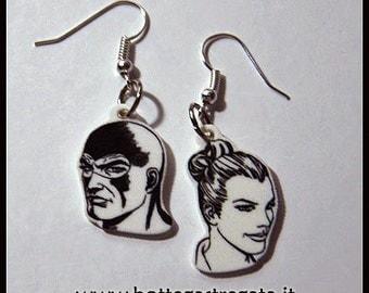 Diabolik Earrings Eva Kant Cartoons