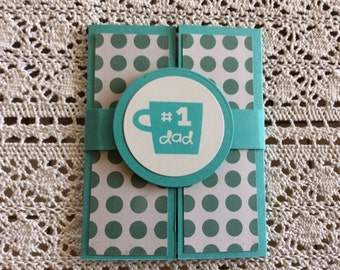 Handmade Greeting Cards:  Father's Day card . Kaleidoscope style.