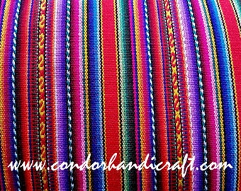 PERU FABRIC | 1 meter STRIPED Red Fabric | Inca Blanket,Cusco blankets, Ethnic Fabric, Aguayo Fabric, Bohemian fabric, boho fabrics by meter