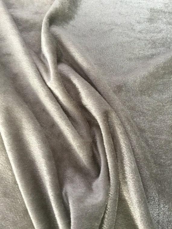 velvet fabric 20 sale grey silver dress strechable velvet. Black Bedroom Furniture Sets. Home Design Ideas
