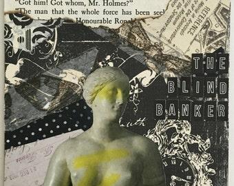 "Sherlock Holmes Greeting Card ""The Blind Banker"""