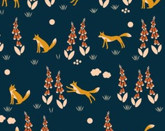 Organic cotton crib and mini crib co sleeper sheets including 4Moms breeze playard Arms Reach Bloom Baby etc Navy fox foxglove floral