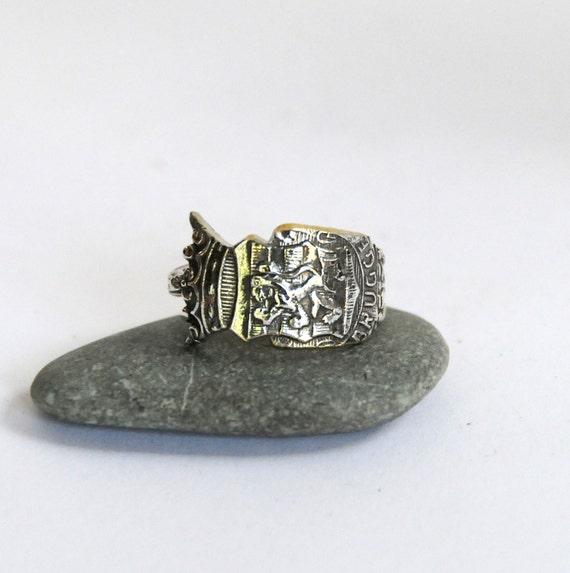 belgium ring brugge ring spoon ring by thedishandspoon