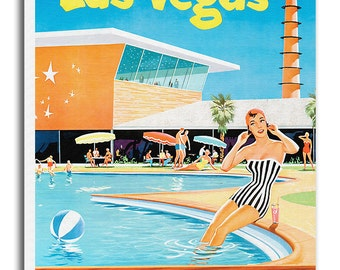 Las Vegas Art Travel Poster Vintage Home Decor Print Retro xr501