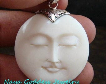 Sterling Silver Face Pendant NG-1151
