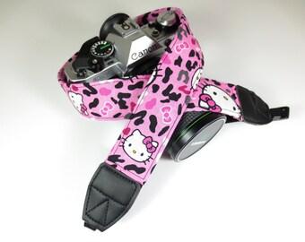Hello Kitty Cheetah Print Camera Strap - DSLR / SLR
