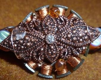 Copper Elegance, small barrette