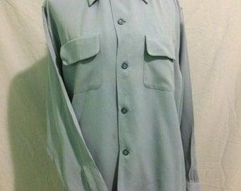 Men's 1950s Gabardine shirt