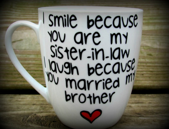 Diy Wedding Gift For Brother : law, Sister in law gift, sister in law mug, sister in law wedding gift ...