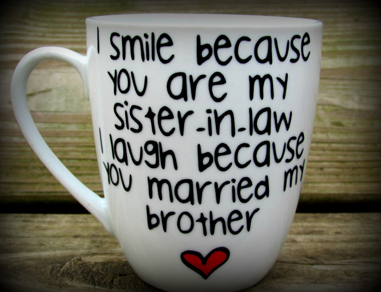 Wedding Gift For Sister In Law : Sister in law Sister in law gift sister in law mug sister