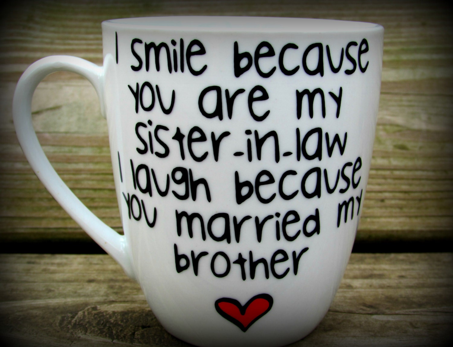 Wedding Anniversary Gift For Brother And Sister In Law : Sister in law Sister in law gift sister in law mug sister