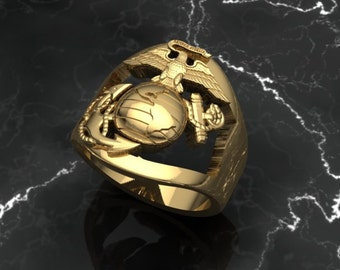 Marine Corps Open Faced RIng