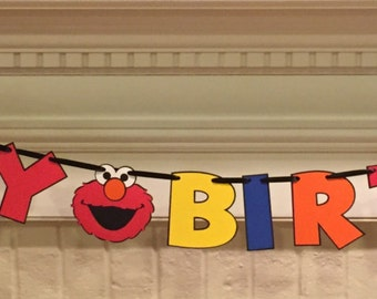 Elmo-Sesame Street Happy Birthday Banner