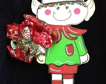 Christmas elf sign, elf door sign, elf door hanger, christmas door hanger, christmas door sign, Santa door sign, Santa sign, Santa's helper