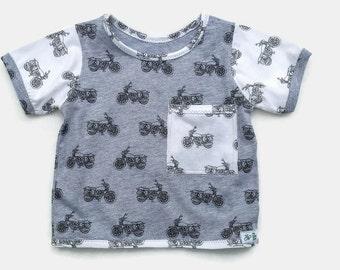Baby Boy Cotton T-Shirt, Infant Boy Cotton Clothes, Baby Boy Cotton Top, Baby Boy Summer Clothes, Baby Boy Gift