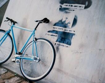 blue bicycle / analog