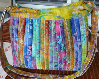Hobo Bag. Bailey Island Bag. BRIGHT colors. One of a KIND.  Sales Benefit MCAR