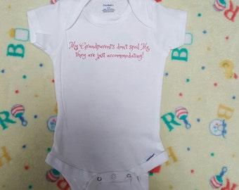 Baby onesie: Grandparents onesie