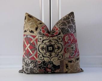Decorative Pillow Cover-Celtic Cross-Red & Black-18x18,20x20,22x22