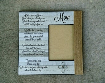 Personalized Memorial Picture Frame | Mom Memorial Gift | Dad Memorial Picture Frame | Custom Quote Frame