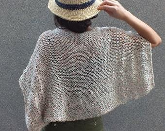 Shrug Summer Shrug Boho inspired shrug Loose knit cotton summer shrug Beach cover up