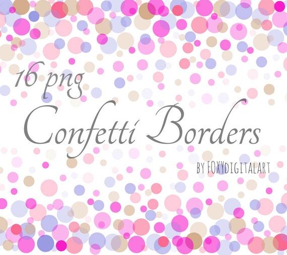 Confetti Clipart Confetti Borders Digital Confetti Confetti