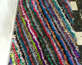 Boucherouite rug Berber Moroccan handicraft multicolor