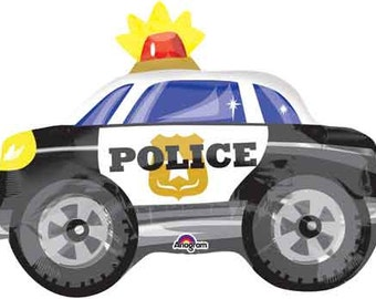 "18"" Inch Police Car Foil Balloon 18 inch Foil Balloon Birthday ""Same Day Shipping"""