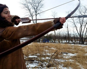 7 Ft Prop Longbow PVC Pipe Bow, Bard's Bow Replica with Deluxe Finish