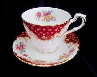 Paragon Rockingham Red Fine Bone China Teacup & Saucer - England