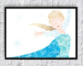 Elsa Watercolour - Framed