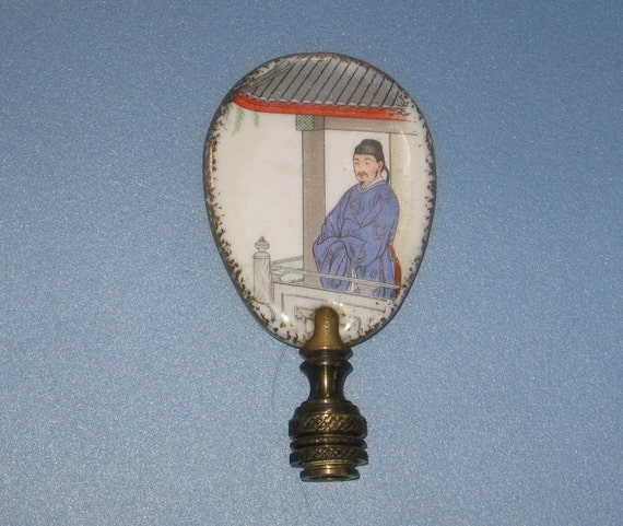 Porcelain Asian Style Lamp Finial Different Design On Each