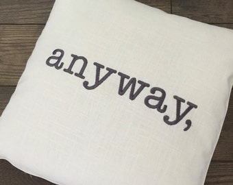 Verb Pillow Covers, Embroidered or Monogrammed