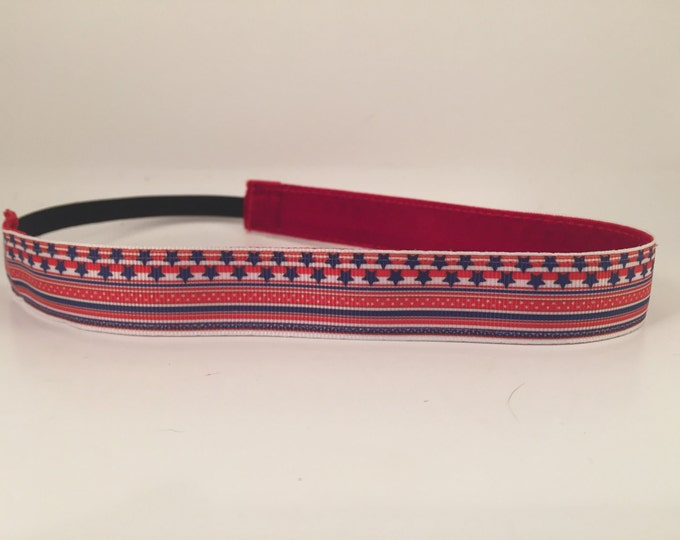 Nonslip Headband America's Stripes