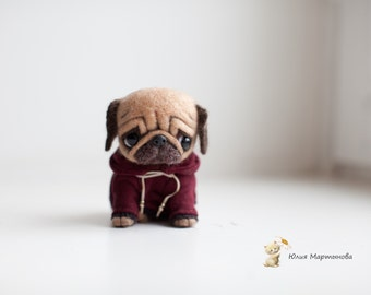 Pug -dog, made to order 13 days.9 cm