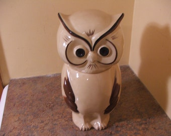 Vintage and hard-to-find 1970s Holiday Designs Owl Cookie Jar