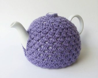 Lavender Crochet Tea Pot Cozy