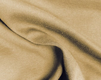 Camel Cotton Spandex Jersey Knit 10 oz Fabric by the Yard #395
