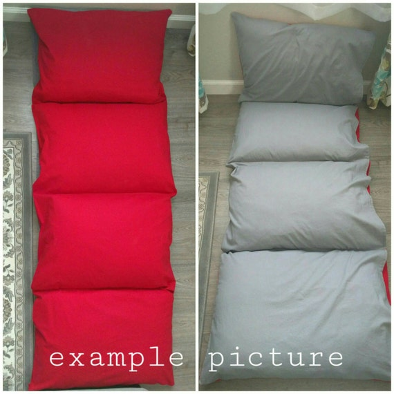 Pillowcase Bed mat lounge nap floor cushion solid cotton